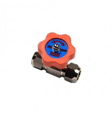 Кран игольчатый под трубку 10 мм