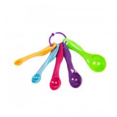 Комплект мерных ложек (5 шт.), цветные
