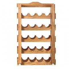 Подставка-полка для бутылок вина дубовая